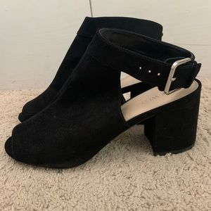 Black Open Toe Ankle Boot